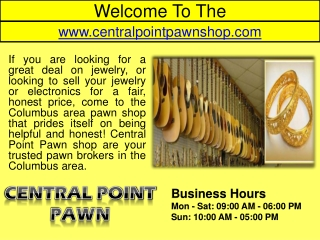 Central Point Pawn Shop Columbus- Sell Used Tool- Buy Video