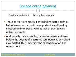 College Online payment system has made eassy  life of much o