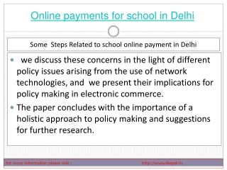 The online payment for school in Delhi  solution is one whic