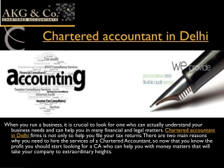 Looking for Chartered accountant in Delhi