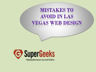 Mistakes to Avoid in Las Vegas Web Design