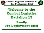 welcome to the combat logistics battalion 13