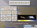 Mercedes Xenon HID Xenon Lights Kit