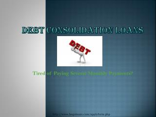 Debt Consolidation Loans- How does it help to the people