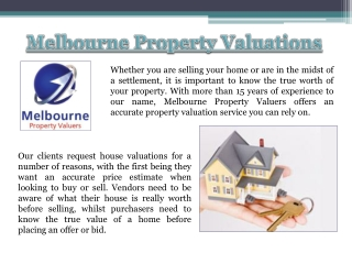 Melbourne Property Valuation