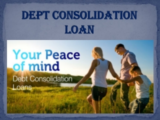 Dept Consolidation Loan In UK