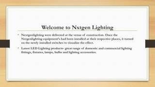 Nxtgen Lighting profile