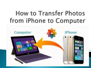 How to Transfer Your iPhone Photos to Computer
