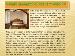 budget accommodation in mussoorie
