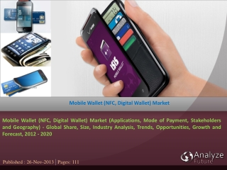 Mobile Wallet (NFC, Digital Wallet) Market (Applications, Mo