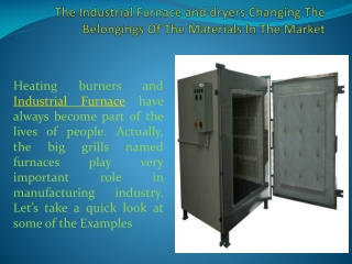 Industrial Furnace and dryers Manufacturers and suppliers