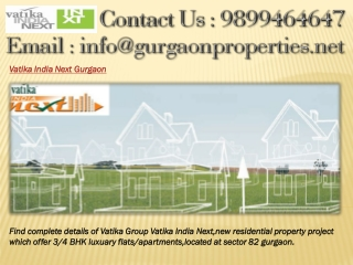 Vatika India Next Gurgaon
