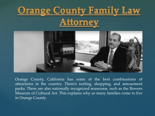 Orange County Family Law Attorney