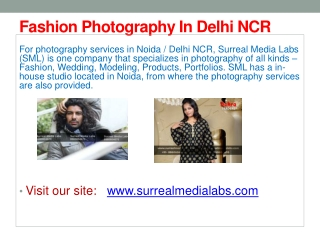 Fashion Photography  in Delhi