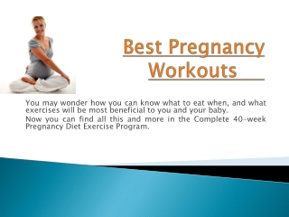 Your Pregnancy Fitness Plan
