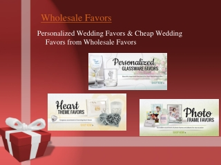 Cheap Wedding Favors - Personalized Wedding Favors