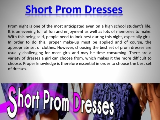 Cheap Short Prom Dresses