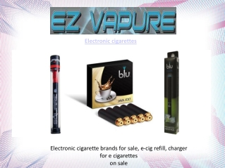 Electronic Cigarettes | E Cigarette
