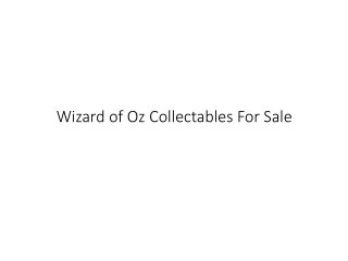 Wizard of Oz Collectables For Sale