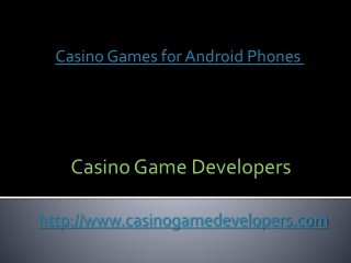 Casino Games for android Phones