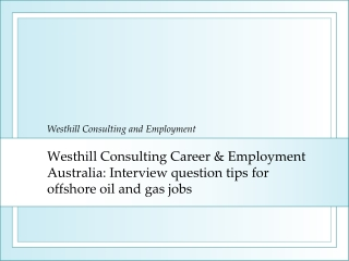 Westhill Consulting Career