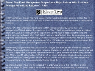 Eleven Two Fund Management Outperforms Major Indices