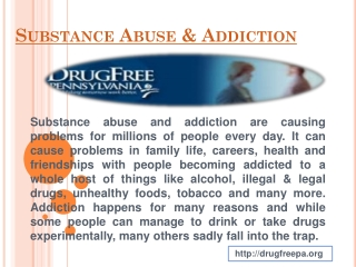 Substance abuse in teenagers