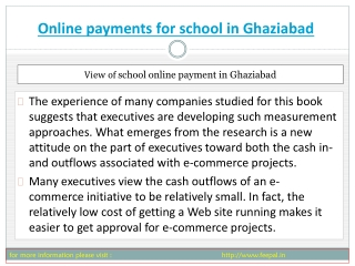 Topics related to online payment for school in Ghaziabad  di