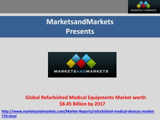 Global Refurbished Medical Equipments Market