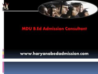 MDU B.Ed Counseling