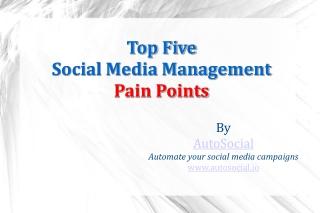 Top Five Social Media Management Pain Points
