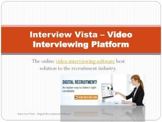 video interviewing platform