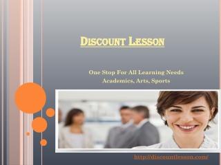 Discount Lesson