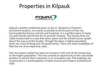 properties in Kilpauk