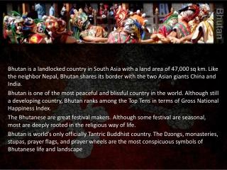 Travel information for Bhutan
