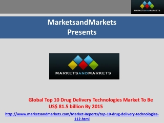 Global Top 10 Drug Delivery Technologies Market