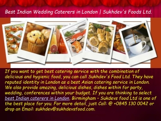 Indian Caterers in London - Make Your Wedding Memorable