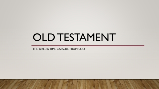 4.0 people in the old testament