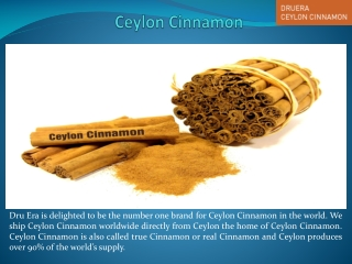 The Uses of Ceylon Cinnamon Products
