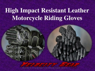 High Impact Resistant Leather Motorcycle Riding Gloves