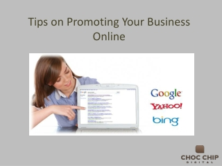Tips on Promoting Your Business Online