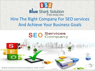 Hire the right company for SEO services and achieve your bus
