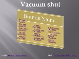Most popular brand name vacuum cleaners