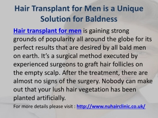 Hair Transplant for Men Liverpool UK