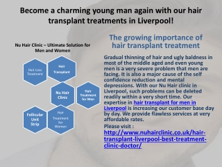 Look Younger by Latest Hair Transplant Liverpool