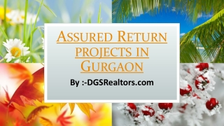 Assured Return projects in Gurgaon
