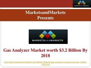 Gas Analyzer Market worth $3.2 Billion By 2018
