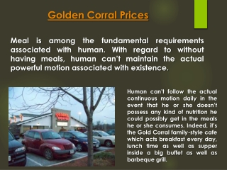 Golden Corral Breakfast Price