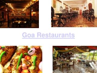 Top Restaurants of Goa
