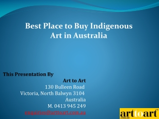 Best Place to Buy Indigenous Art in Australia